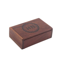 Groomsmen Gifts - Personalized Modern Wooden Cigar Case (258188211)