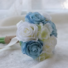 Hand-tied Satin/PE Bridesmaid Bouquets (Sold in a single piece) -