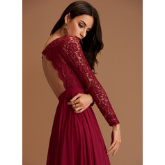 Burgundy V-Neck Maxi Maxi Dresses (293250217)