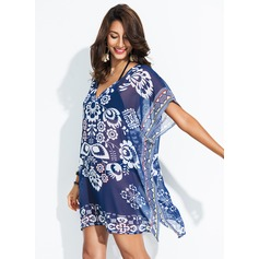 Elegant Floral Polyester Cover-ups Swimsuit (202172907)