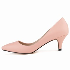 Women's Leatherette Cone Heel Pumps Closed Toe shoes (085113500)
