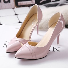 Women's Leatherette Stiletto Heel Pumps Closed Toe With Hollow-out shoes