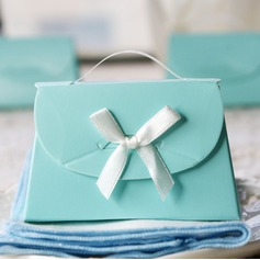 Romantic Moment Handbag shaped Favor Boxes With Ribbons