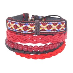 Stylish Basketwork Cotton String Unisex Fashion Bracelets (Sold in a single piece)