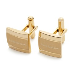 Personalized Gold Stainless Steel Cufflinks