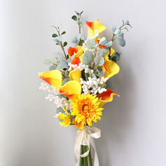 Refined Free-Form Silk Flower Bridal Bouquets -