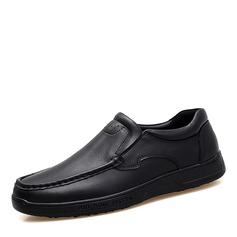 Men's Real Leather U-Tip Casual Men's Loafers