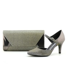 Charming Autumn/Winter Shiny Material Shoes & Matching Bags