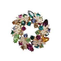 Colourful Alloy/Rhinestones With Rhinestone Ladies' Brooch