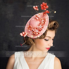 Ladies' Gorgeous Lace/Imitation Pearls/Linen With Imitation Pearls/Flower Fascinators