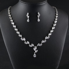 Ladies' Classic Zircon Jewelry Sets For Bride