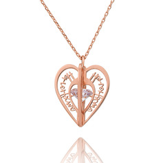 Custom 18k Rose Gold Plated 3D Hollow Carved Name Necklace Birthstone Necklace - Birthday Gifts Mother's Day Gifts