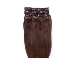 4A Non remy Straight Human Hair Clip in Hair Extensions 7pcs 70g