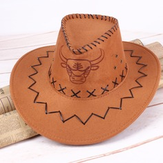 Men's Vintage Faux Leather Cowboy Hat