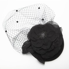 Ladies' Elegant Autumn/Winter Net Yarn/Velvet With Silk Flower Fascinators