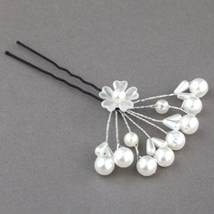 Glamourous Alloy/Imitation Pearls Hairpins(Set of 4)