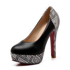 De mujer Cuero Tacón stilettos Salón Plataforma Cerrados con Otros zapatos
