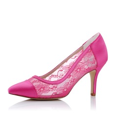 Kvinnor Duk Mesh Stilettklack Pumps