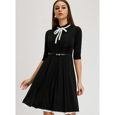 A-Linie High Neck Knielang Cocktailkleid