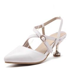 Femmes Similicuir Talon stiletto Escarpins Bout fermé Escarpins avec Boucle Élastique chaussures