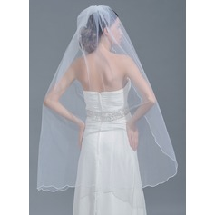One-tier Scalloped Edge Waltz Bridal Veils