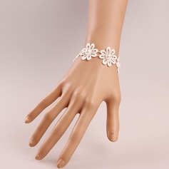 Fashional Fabric With Imitation Pearl Lace Women's Fashion Bracelets (Sold in a single piece)