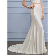 Separates Court Train Jersey Wedding Skirt