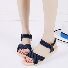 Women's Leatherette Wedge Heel Sandals Peep Toe Slingbacks With Braided Strap Elastic Band shoes