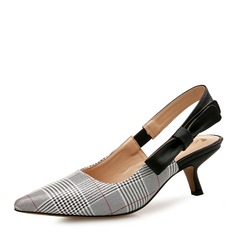 女性用 PU キトンヒール サンダル クローズド足 スリングバック とともに ちょう結び 靴