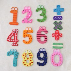 Numbers & Symbols Wooden Fridge Magnets