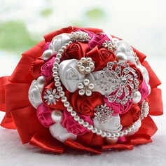 Round Satin Bridal Bouquets