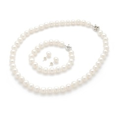 "Elegant Pearl/""A"" Level Pearl Ladies' Jewelry Sets"