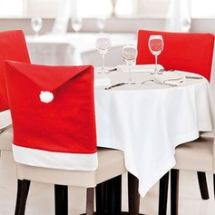Cartoon Cloth Santa Claus Hat Chair Covers  (Sold in a single piece)