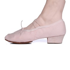 Women's Fabric Pumps Ballet With Bowknot Dance Shoes
