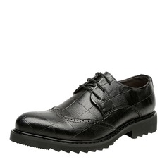 Men's Real Leather Lace-up Work Men's Oxfords