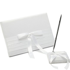 Pure Bow/Sash Guestbook & Pen Set