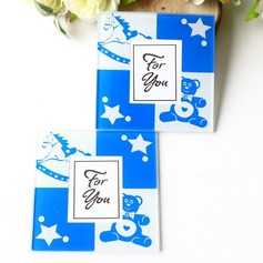 """Tea Time""/Classic Square Glass Tea Party Favors"