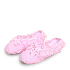 Kids' Canvas Ballet With Bowknot Dance Shoes