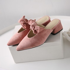 Women's Suede Chunky Heel Pumps Slippers With Others shoes