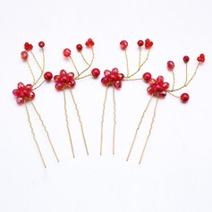Handmade/Charming Alloy/Imitation Pearls Hairpins (Set of 4)