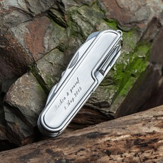 Groomsmen Gifts - Personalized Modern Stainless Steel Pocket Knife