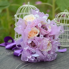Dreamlike Organza/Artificial Silk/Acrylic Bridesmaid Bouquets