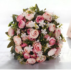 Attractive Round Fabric Bridal Bouquets/Bridesmaid Bouquets -