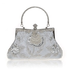 Elegant Sequin/Polyester Clutches/Top Handle Bags (012125487)