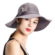 Ladies' Glamourous/Pretty/Romantic Wool With Bowknot Bowler/Cloche Hats