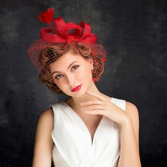 Dames Charme Feather/Fil net avec Feather/Tulle Chapeaux de type fascinator/Chapeaux Tea Party