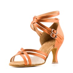 Satin Mesh Sandals Latin Dance Shoes