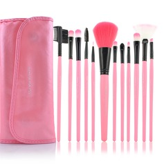 12 Pcs Synthetic Hair Makeup Brush Set With Pouch