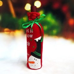 Christmas Day Red Wine Bottle Holder Favor Bag (Sold in a single piece) Gifts