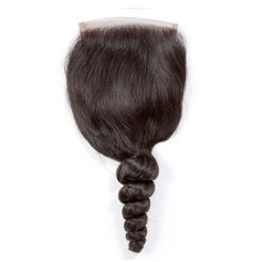 4A Non remy Loose Human Hair Closure (Sold in a single piece) 35g